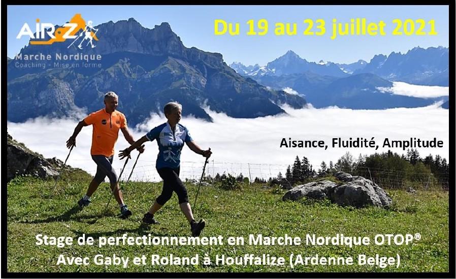 «HOUFFALIZE 2021» En duo avec Gabrielle Magis. Votre stage de perfectionnement en Marche Nordique OTOP® au coeur des Ardennes Belge.