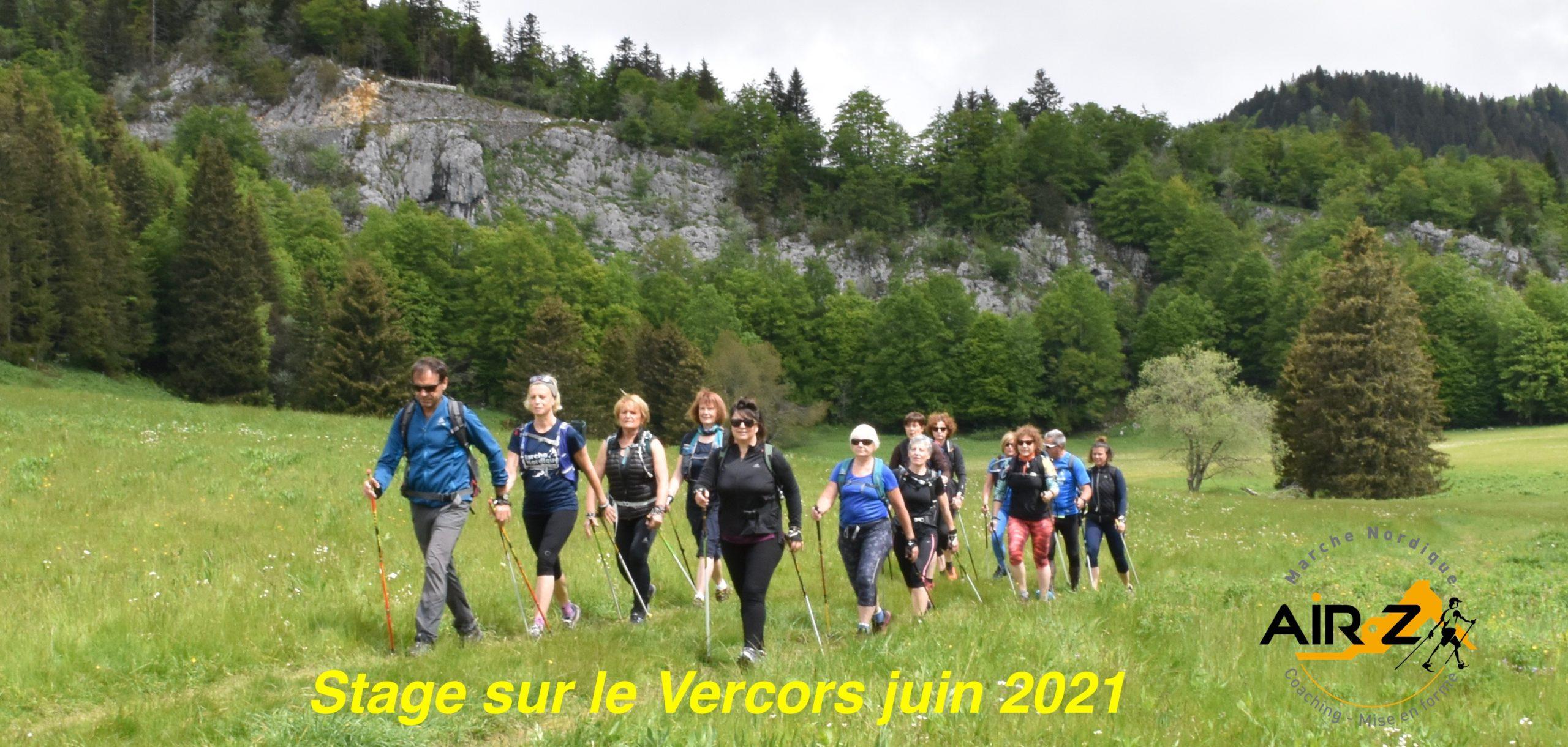 Magnifique stage sur le Vercors juin 2021